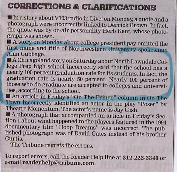 Tribune correction