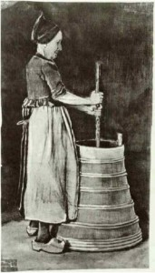 Woman-Churning-Butter
