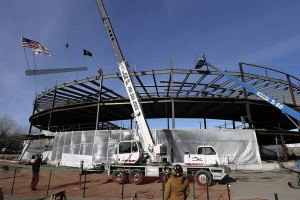 Last beam placed at UNO Soccer Academy - Tribune photo